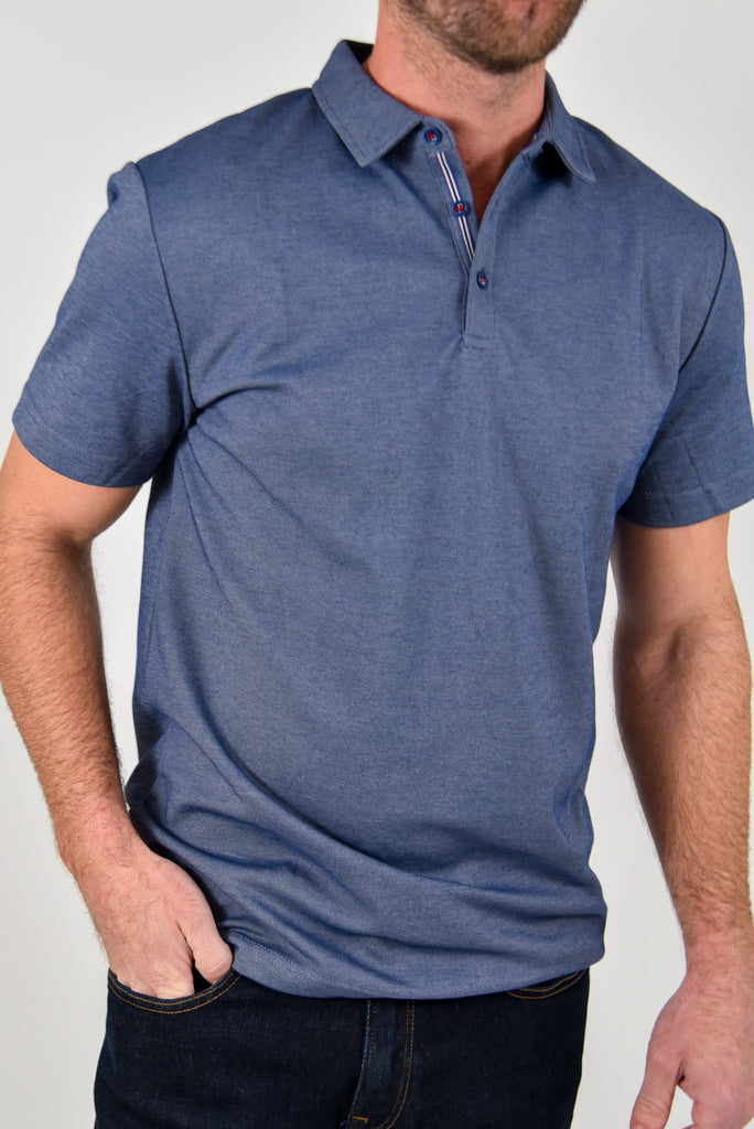 Brooks Polo | TAL | Static Blue