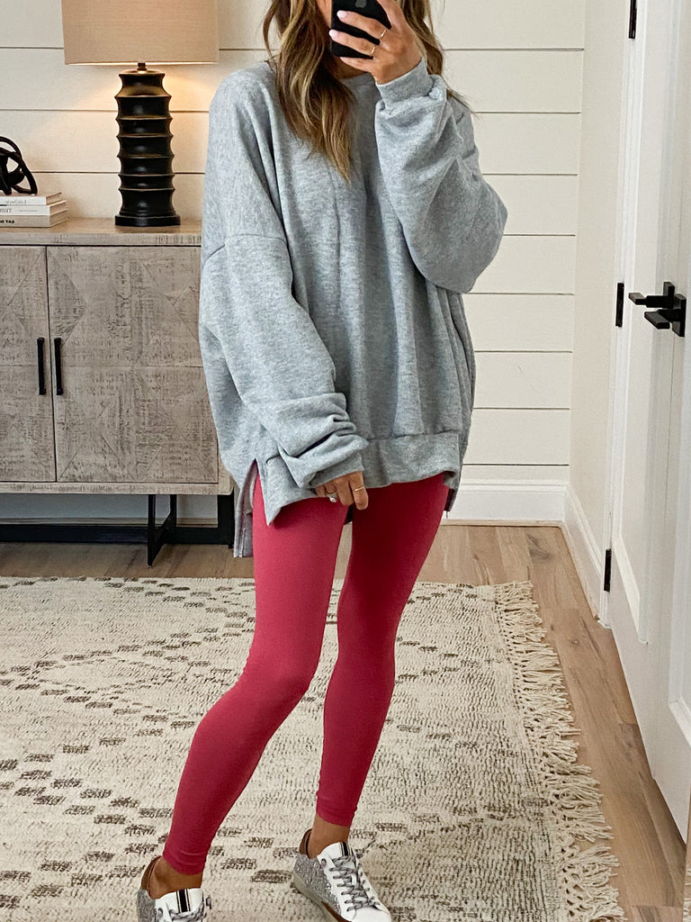 Super Soft Leggings | Coral | +Plus Available