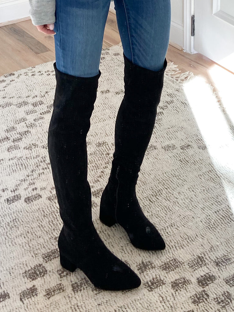 Darby Faux Suede Boot | Black | FINAL SALE