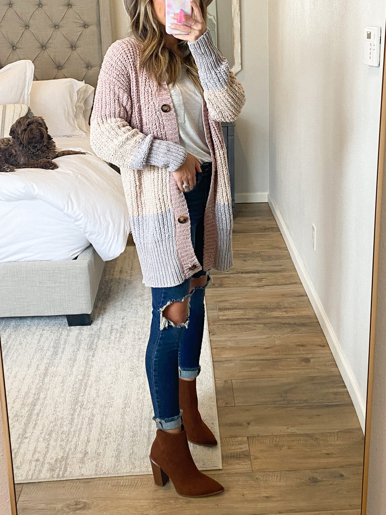 Cool Weather Colorblock Cardigan