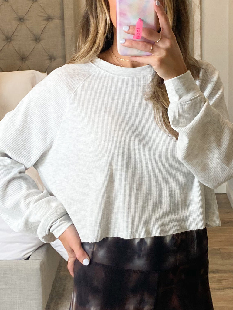 Roadtrip Thermal Top | Heather Gray