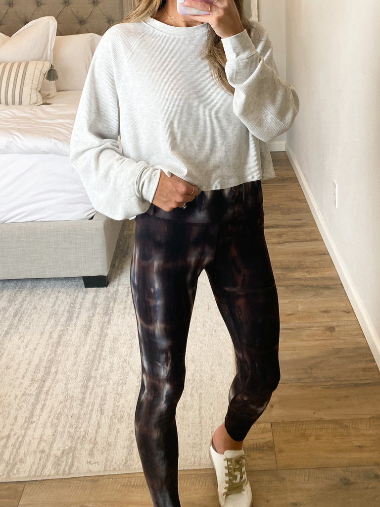 Tie-Dye Butter Soft Legging | Brown | +Plus Available