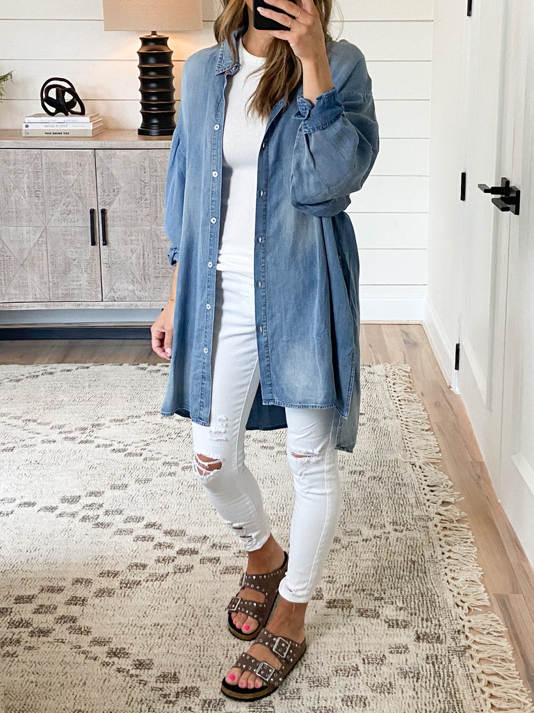 Celine Chambray Tunic | +Plus Available