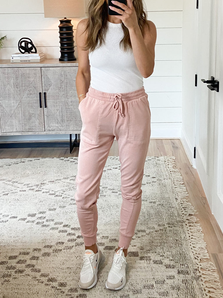 Joey Knit Joggers | Misty Rose