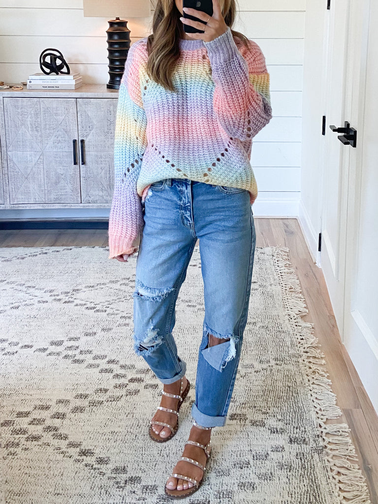 Santa Monica Sunrise Sweater | Pastel