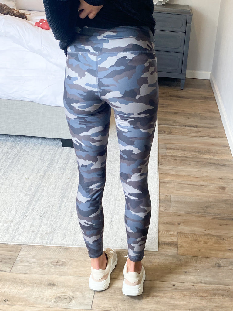 Butter Soft Leggings | GREY CAMO | +Plus Available