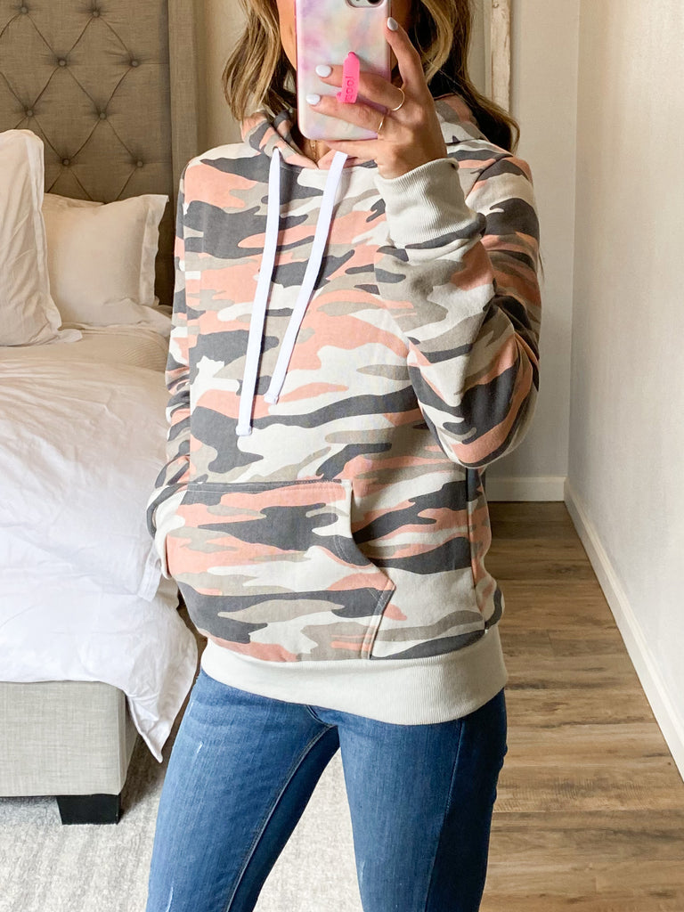 Independent Camo Hoodie | Coral Camo