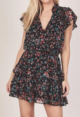 Napa Floral Ruffle Dress