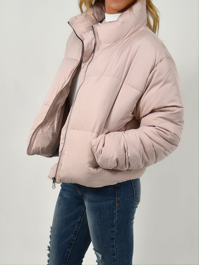 Milo Puffer Jacket | Pale Pink | FINAL SALE