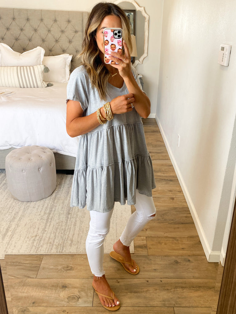 Live A Little Tiered Tunic | +Plus Available