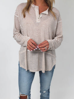 Lived In Striped Henley