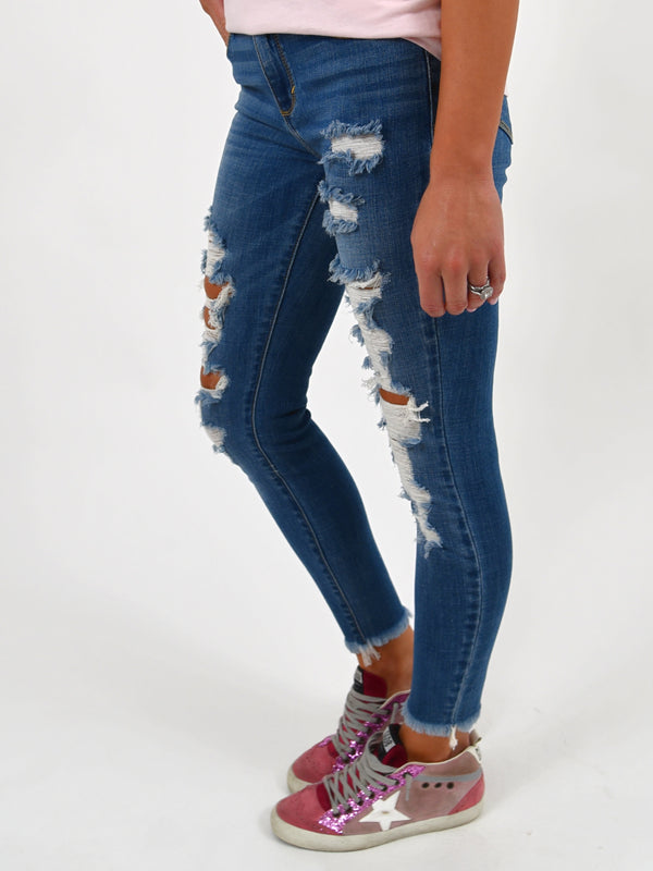 Mia Crop Distressed Jeans