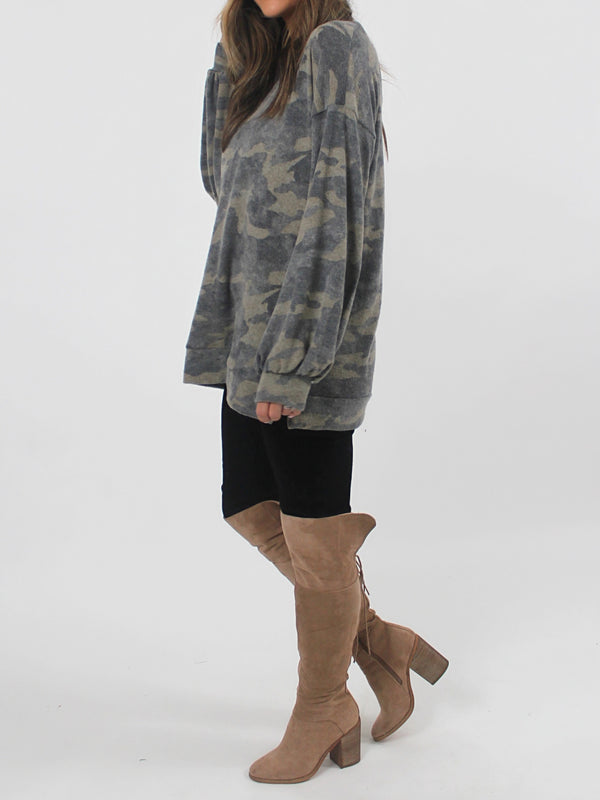 Bailey Brushed Camo Top