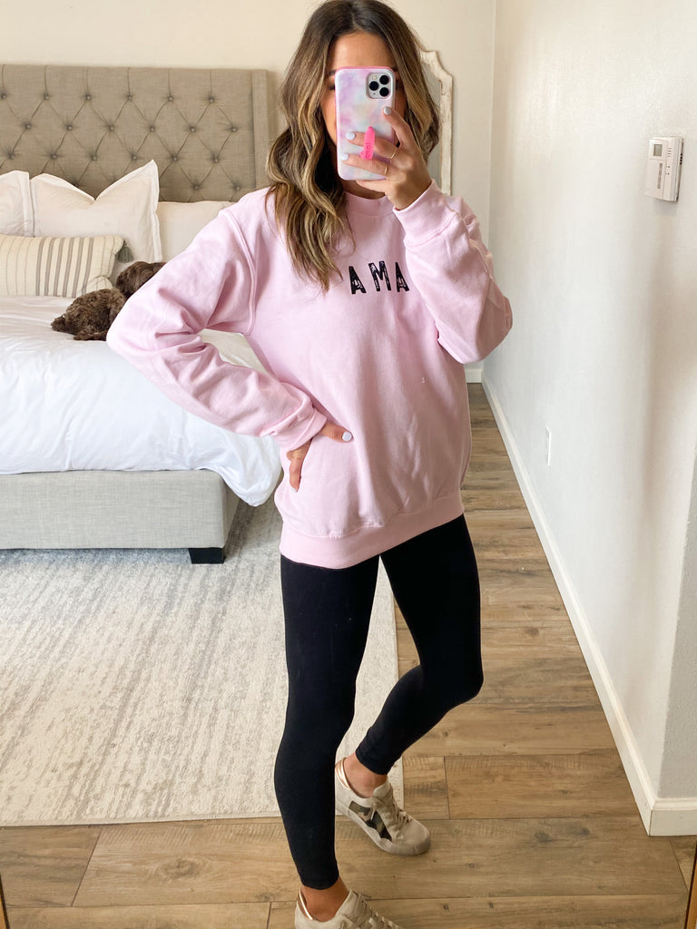 Mama+Raise Them Kind Pullover | Pink | +Plus Available