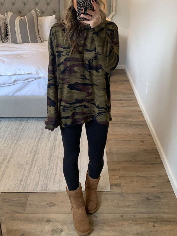 Don't Blend In Camo Pullover (Extended Sizes)