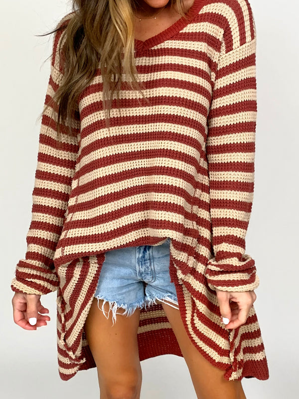 Beach Nights Sweater | Rust