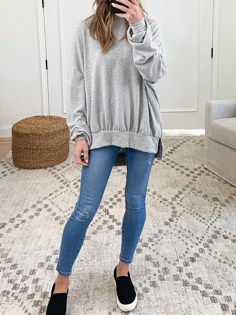 Nora Comfy Pullover | Heather Grey | +Plus Available