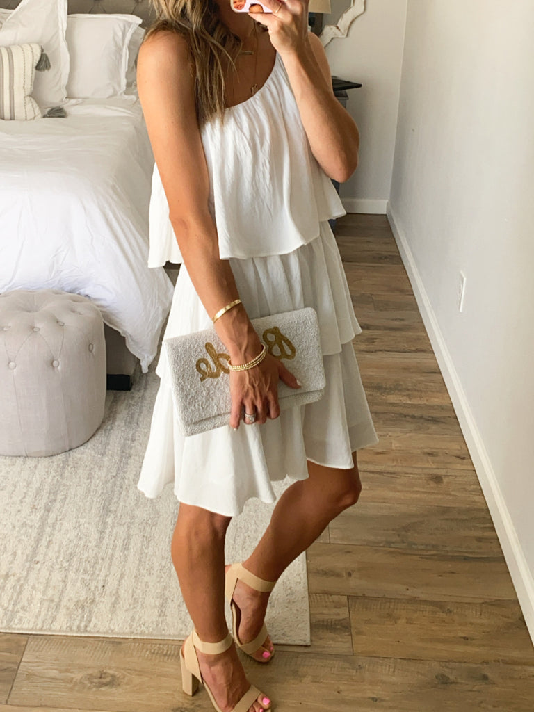Layla Layered Dress | White