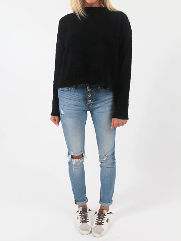 Cozy Up Knit Sweater | Black