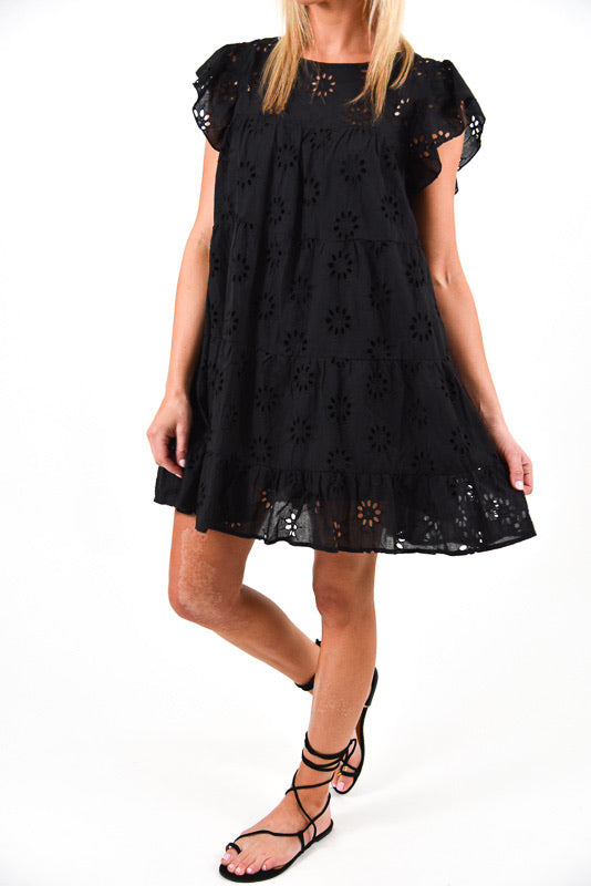 Like A Dream Eyelet Dress | Black