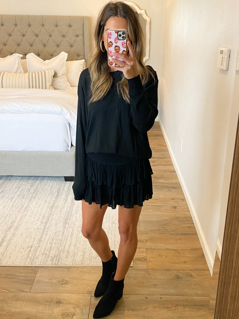 On Air Smocked Skort | Black