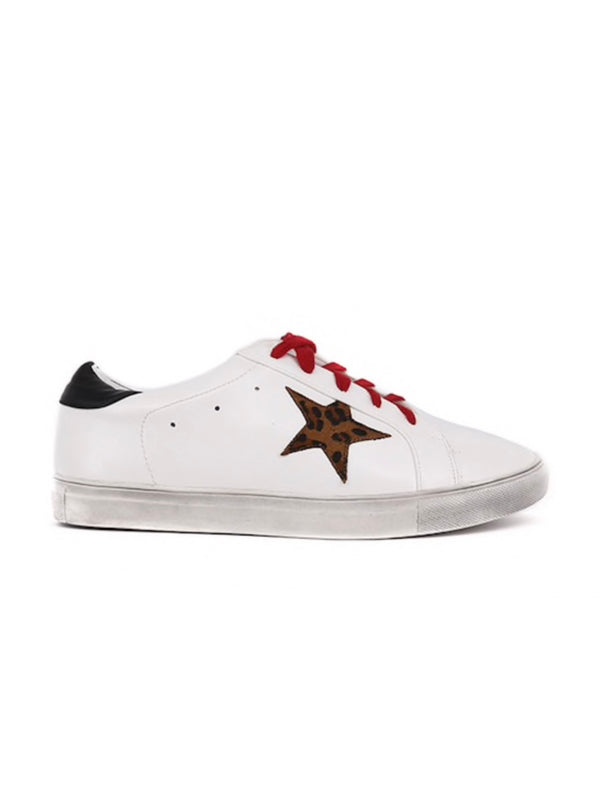Leopard Star Sneakers | SIZE UP!