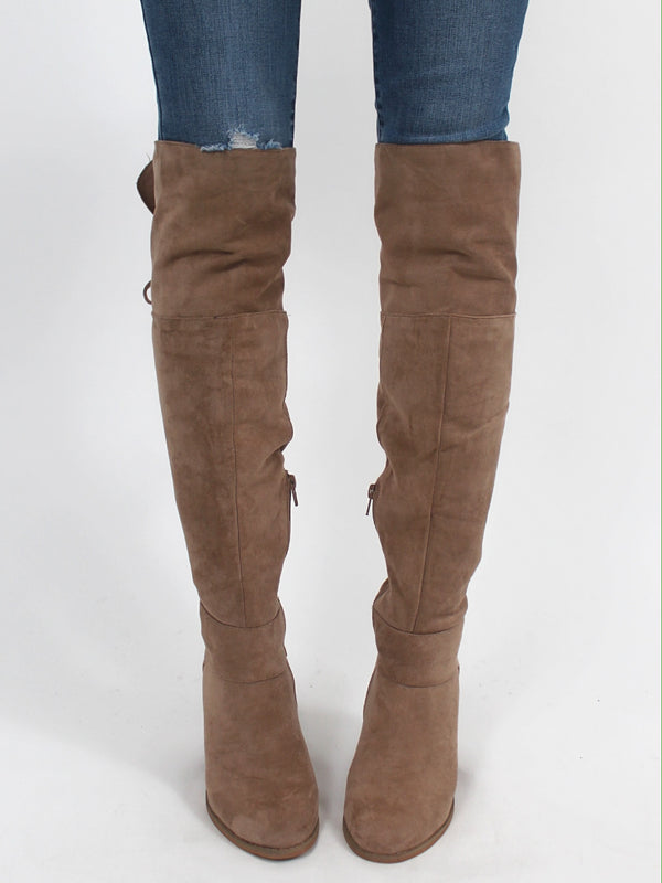Landmark Knee High Boots | Taupe