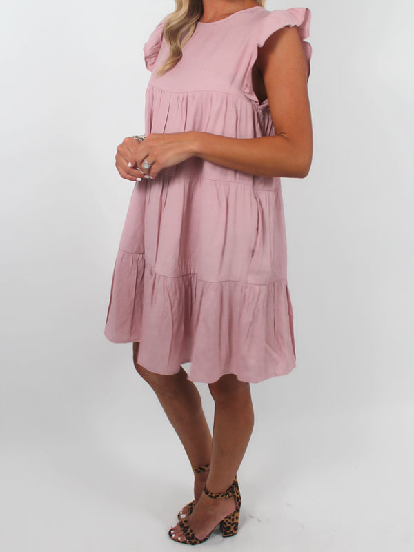 Effortless Shift Dress | Dusty Pink