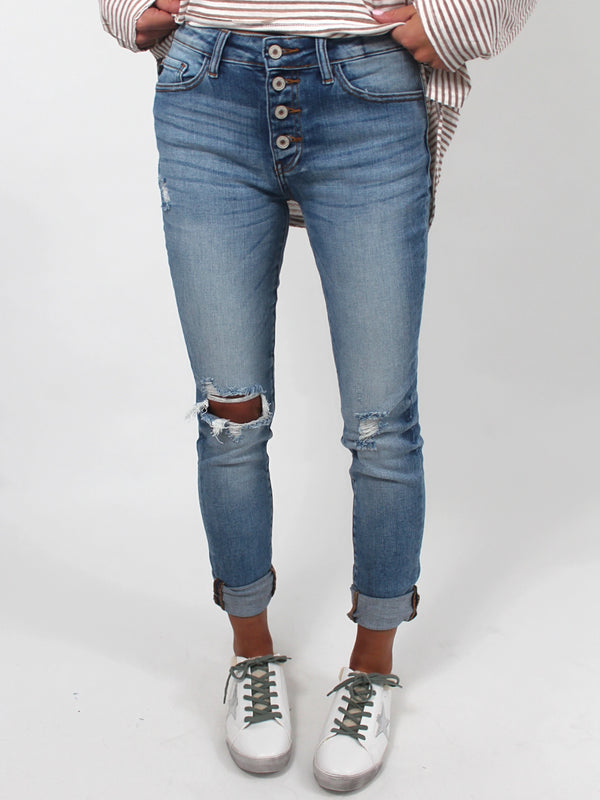 Blair Button Denim Jeans
