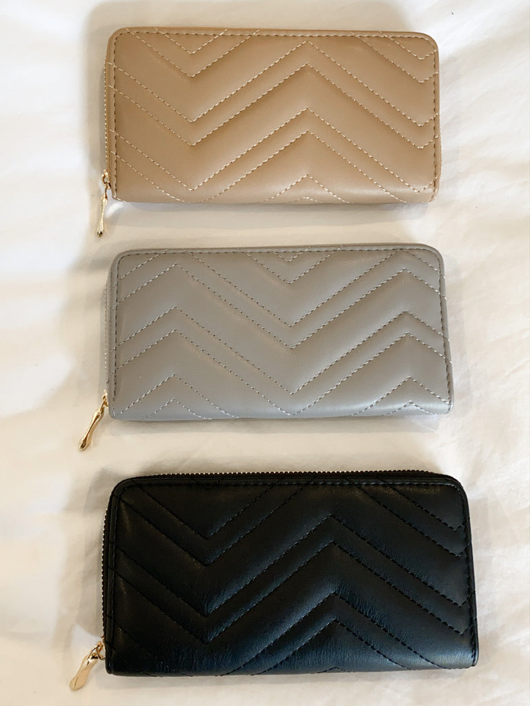 Gigi Cheveron Wallet | 3 Colors