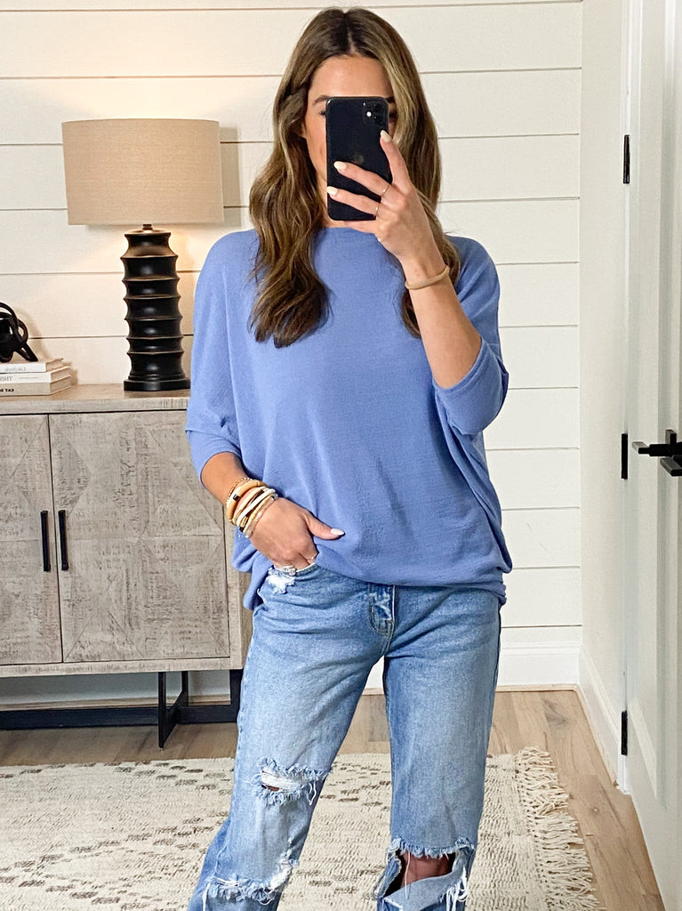 Favorite Tunic Top | Dusty Blue | +Plus Available