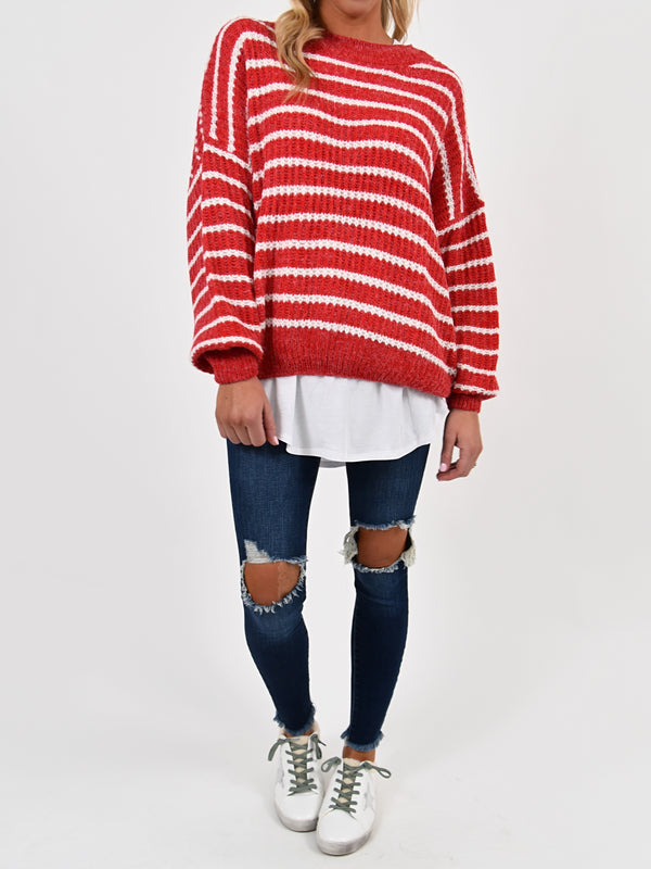 Kandy Striped Sweater | S-2X