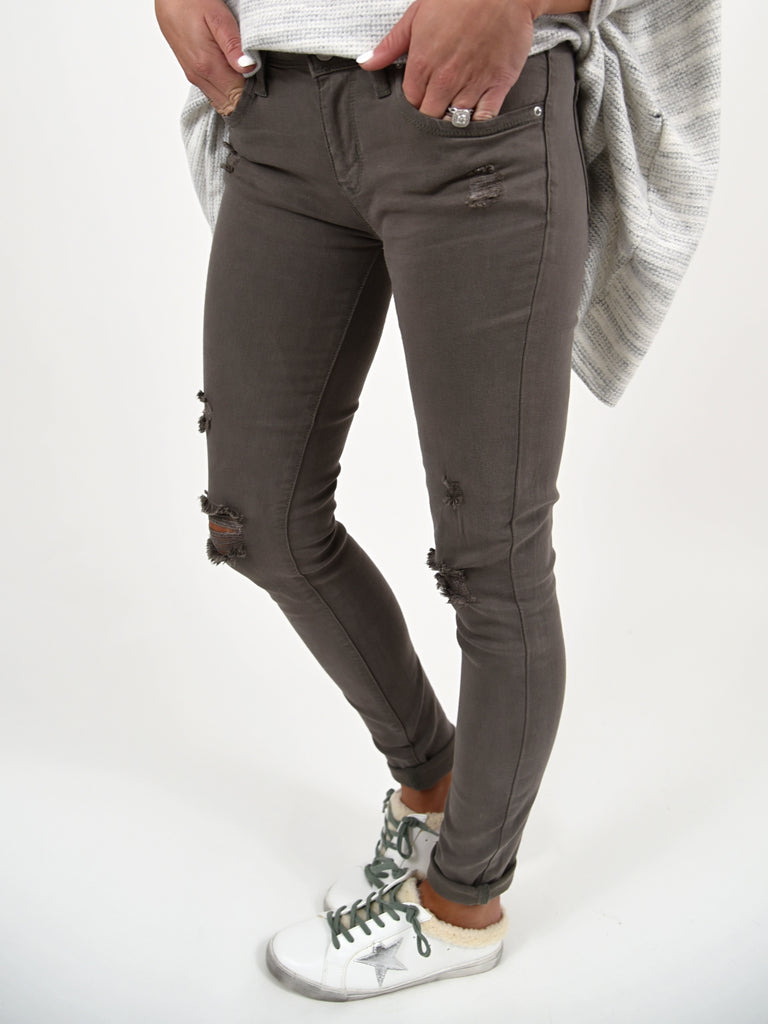 Autumn Ankle Skinny Jeans | Olive | FINAL SALE