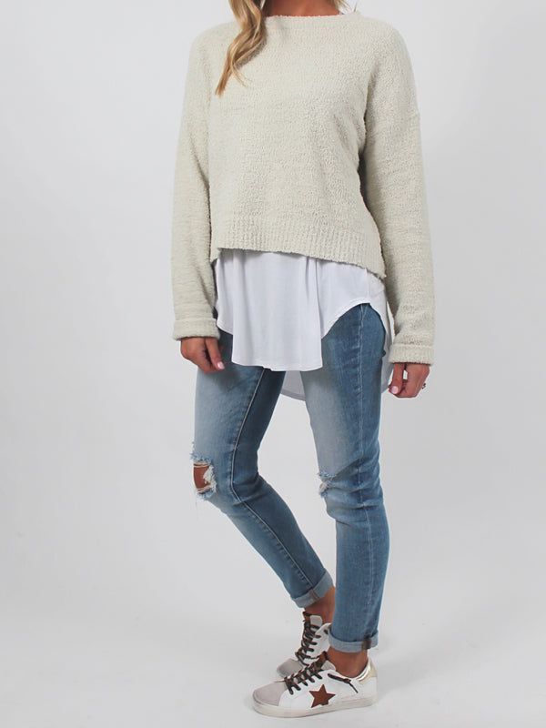 Cozy Up Knit Sweater | Cream