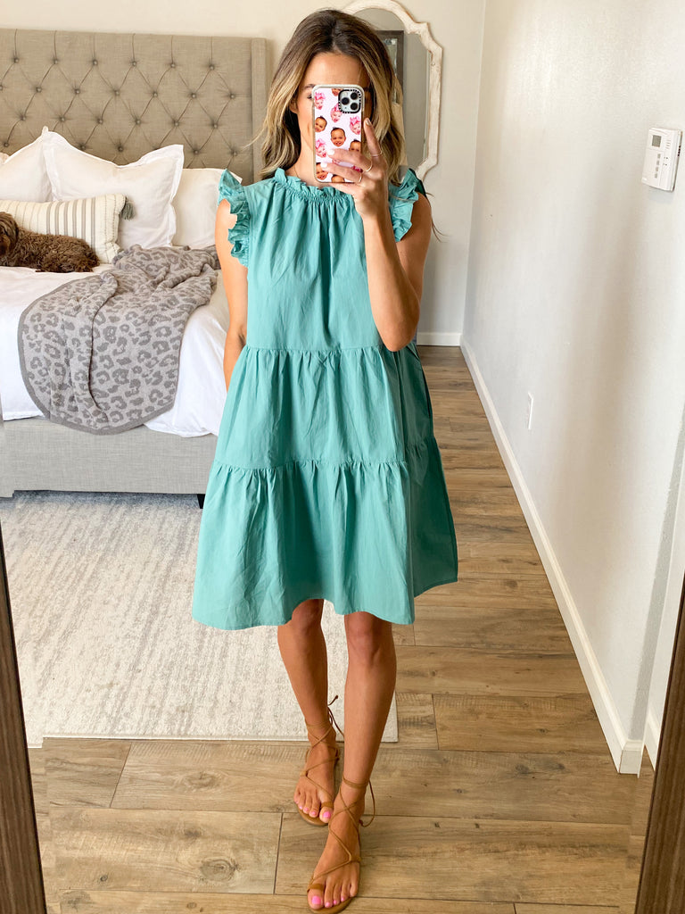 In The Moment Ruffle Dress | Jade