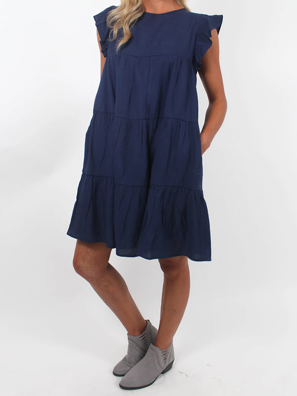 Effortless Shift Dress | Navy