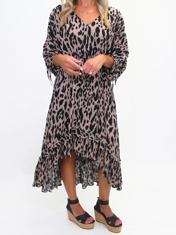 Cheetah Hi-Low Dress | FINAL SALE