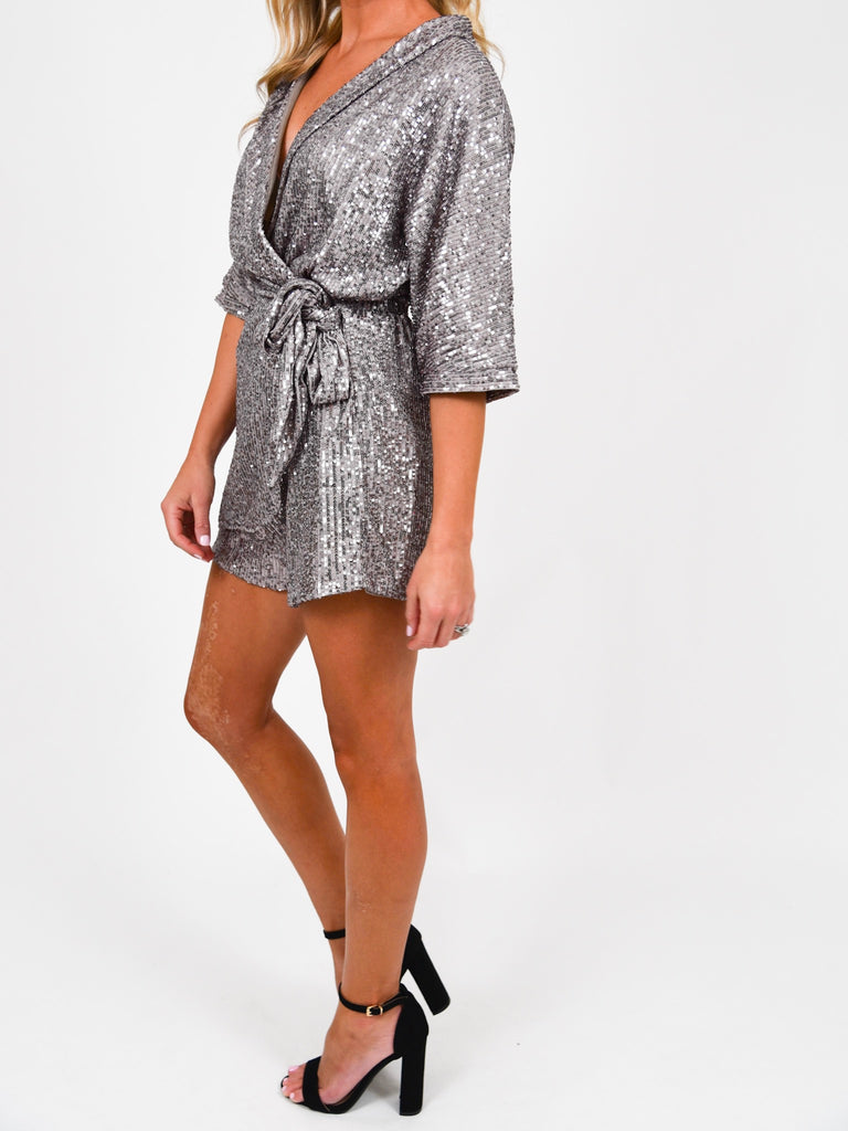 So Fun Sequin Romper | FINAL SALE