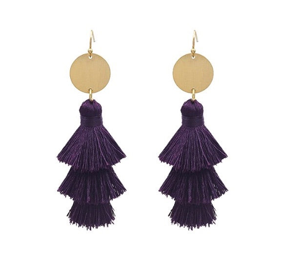 Game Day Tassel Earrings | 7 Colors Available