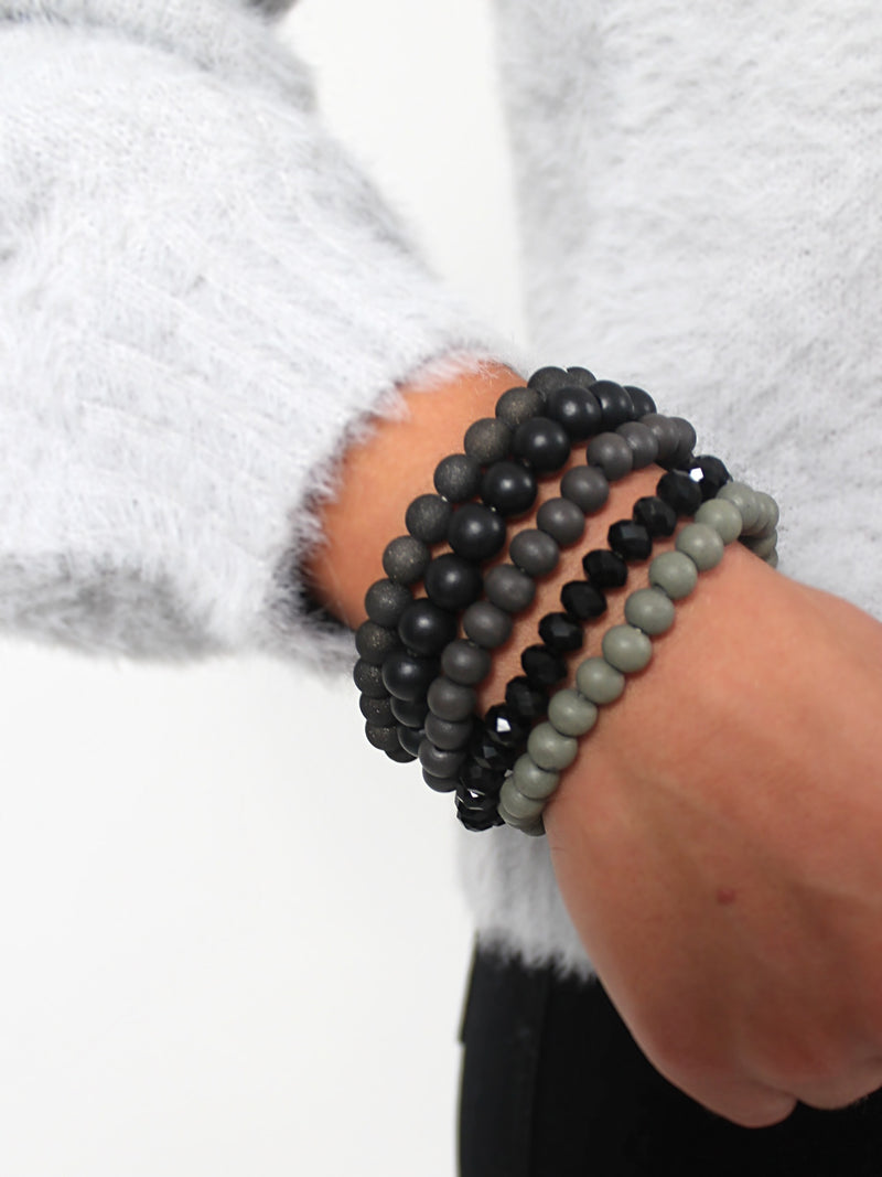 Beaded Stack | Black