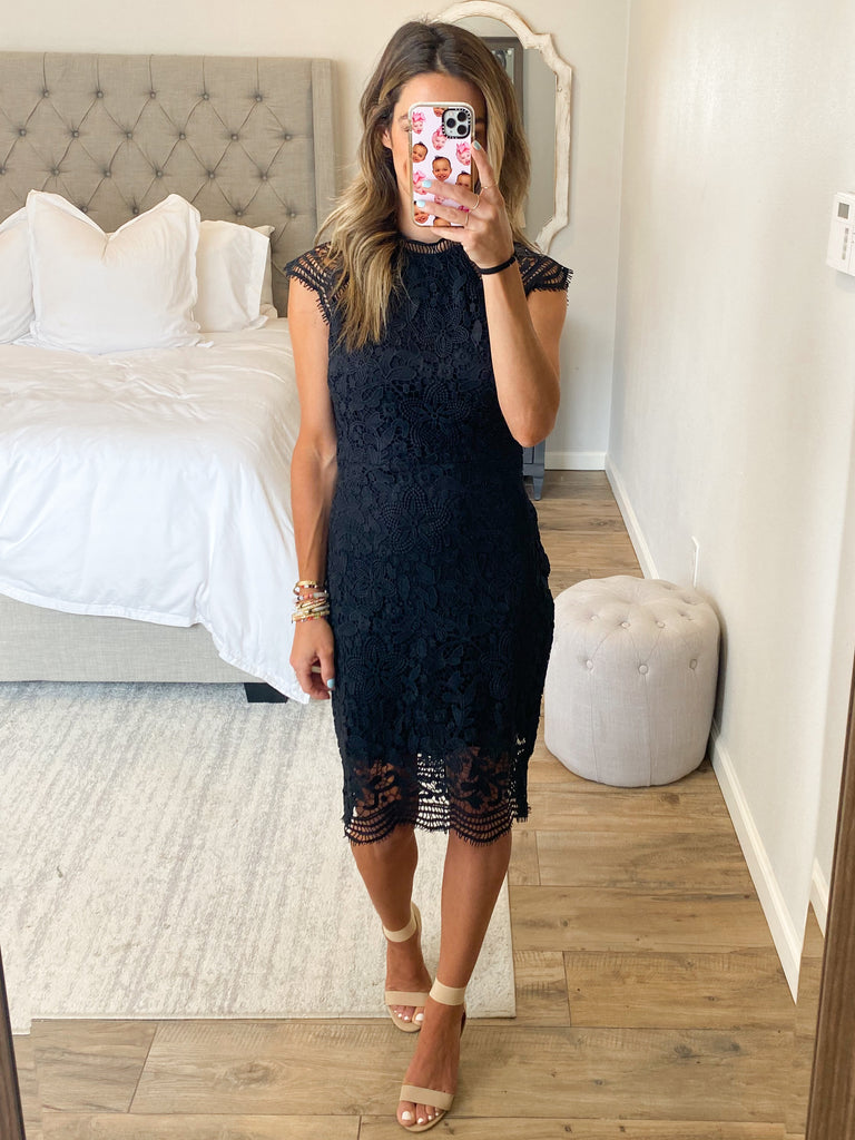 Emory Lace Dress | Black