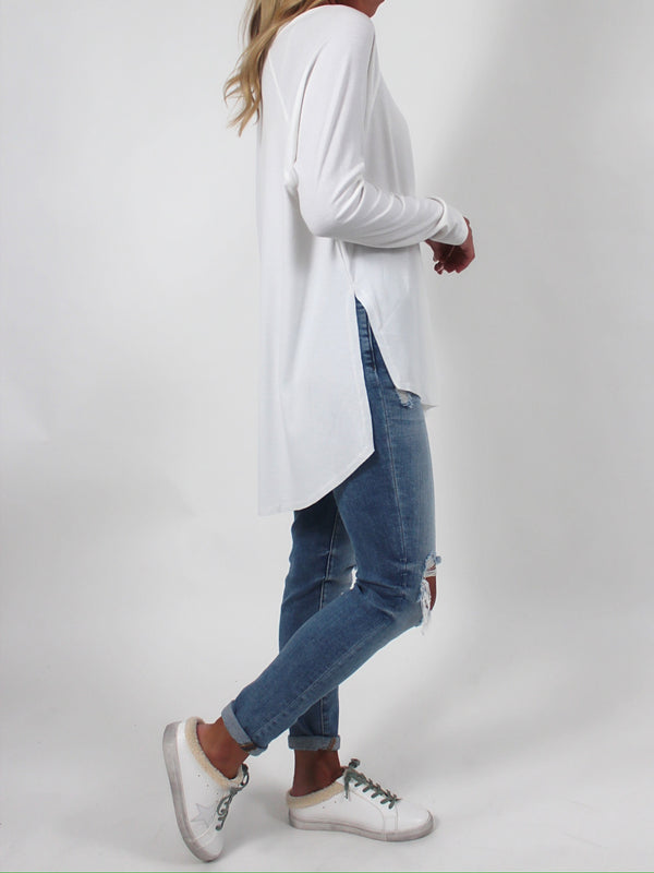 Ribbed Raglan Long Sleeve | Ivory (RESTOCK!)