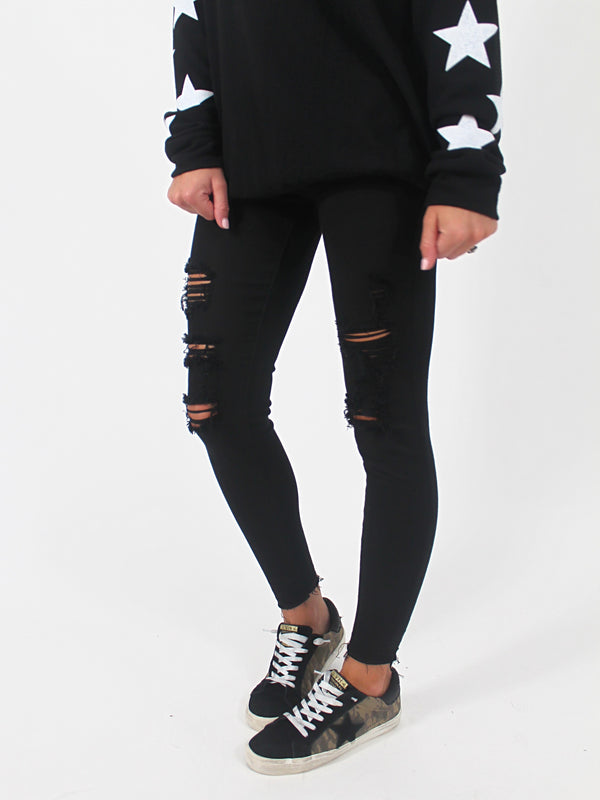 Fall For You Skinny Jeans | Black