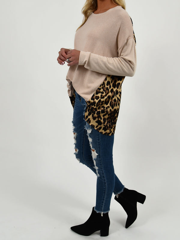 Marley Leopard Back Top | S-3X