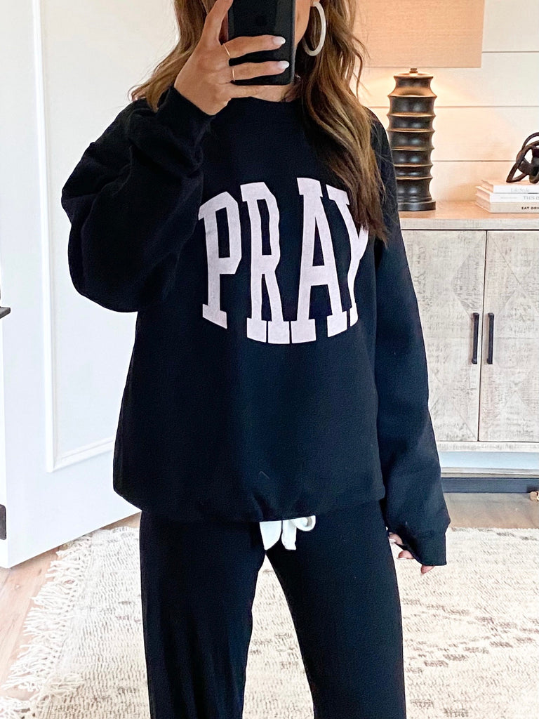 Pray Pullover | Black | +Plus Available