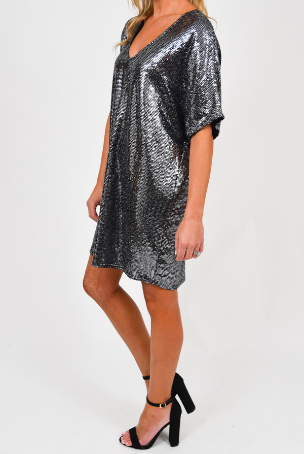 So Sparkly Sequin Mini Dress