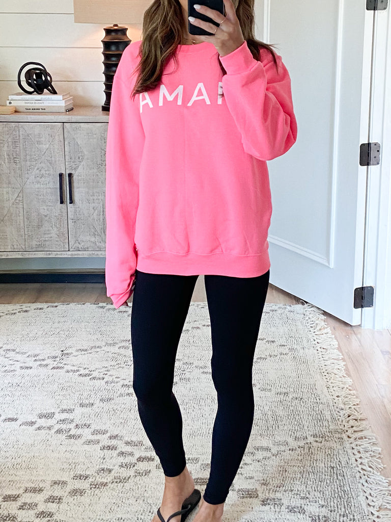 MAMA Pullover | Hot Pink | +Plus Available