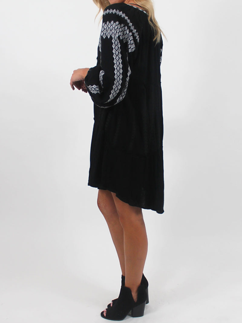 Boho Tunic Dress | Black
