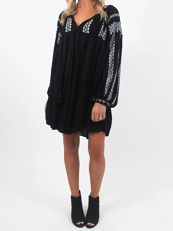 Black Boho Tunic Dress | FINAL SALE