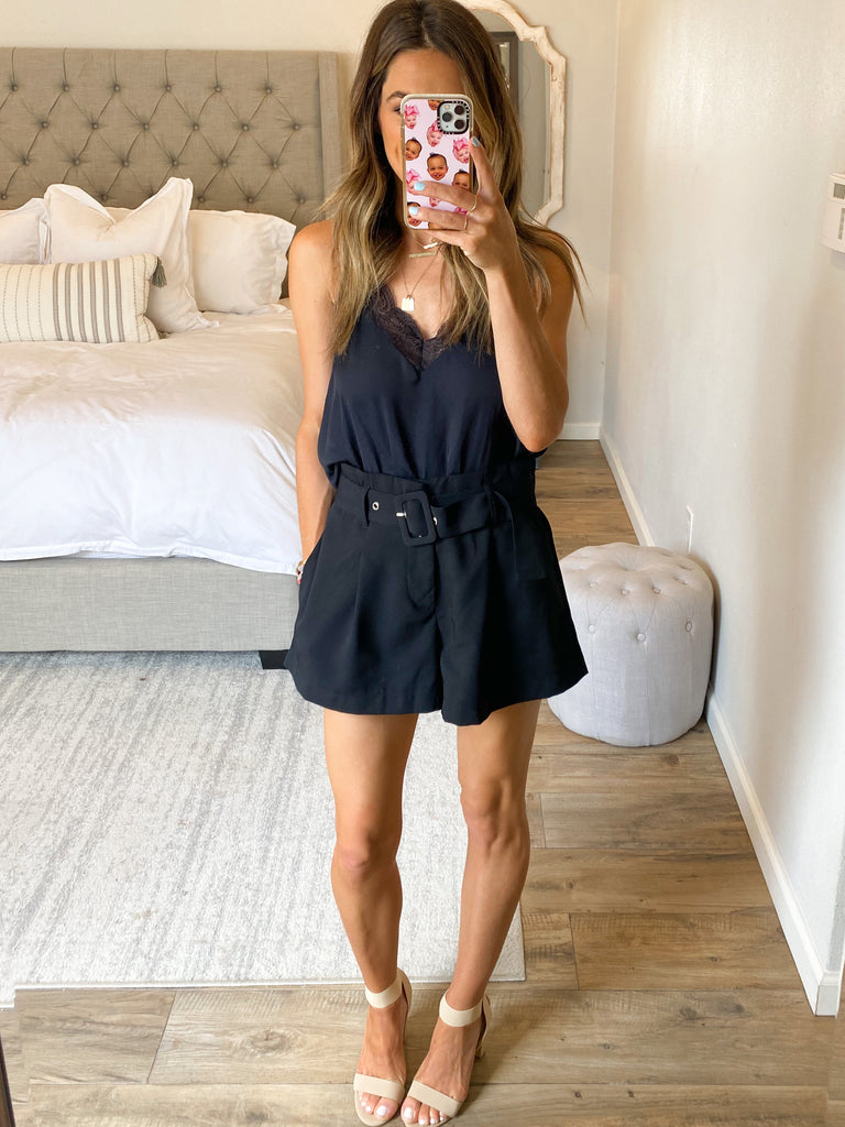 Legend High Waisted Shorts | Black